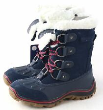 Pajar Womens Alina Waterproof Boot Lace Up D-Rings Navy Size 40 EU 9-9.5 US