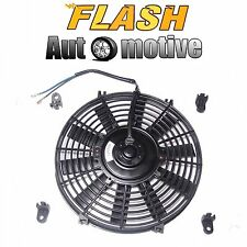 "10"" BLACK UNIVERSAL 12V SLIM PUSH/PULL ELECTRIC RADIATOR COOLING FAN 1730 CFM"