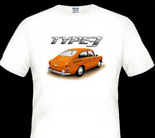 68'  -  71'  VW  TYPE 3  FASTBACK  COUPE VOLKSWAGEN    QUALITY WHITE TSHIRT