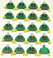 LEGO LOT OF 20 NEW GREEN ADVENTURES MINIFIGURES TORSOS ORIENT JACKET CAMERA