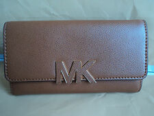 NWT MICHAEL KORS FLORENCE BILLFOLD LUGGAGE Leather Wallet Purse $168