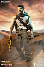 SIDESHOW UNCHARTED 3 NATHAN DRAKE 1/6 SCALE ACTION FIGURE 30 CM HOT TOYS NEW