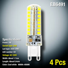 4 Pcs LED Corn Bulb GU9 High Light 2835SMD AC220V 5W 64 Light Cool White Lamp