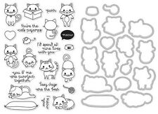 """Hero Arts """"PURR"""" Cats Clear Stamp & Frame Cuts Die Bundle"""
