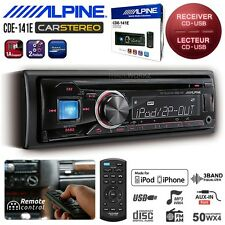 New ALPINE CDE-141E 50Wx4 Car Headunit CD USB AUX WMA MP3 FM Radio Stereo Player