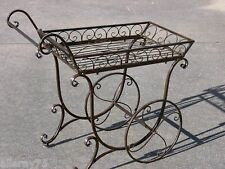 FRENCH provincial PLANTER antique brown  flower cart cottage outdoor New