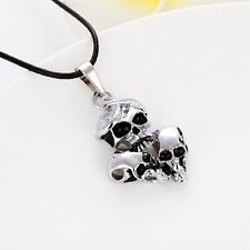 """New Arrival Stainless Steel Men/Women skull Pendant Necklace 20"""" Fashion Jewelry"""