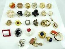 Mixed Lot of Nice Vintage Single Orphan Earrings 4 Crafting Brooch Bouquets #2