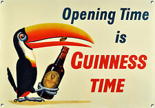 GUINNESS TIME, Vintage style, Metal sign, Collectable, Enamel, No.606