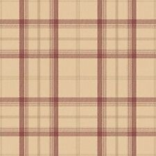 NEW CAMBRIDGE PLAID WALLPAPER - RED & GOLD - FD40532 - FINE DECOR CHECK TARTAN