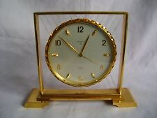 VINTAGE SWISS LOOPING BRASS MANTEL / ALARM CLOCK JUST SERVICED IN GWO