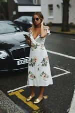 TOPSHOP *Cream* FLORAL MAXI DRESS UK8 BNWT