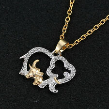 Chic Mother's Day Crystal Elephant Pendant Necklace Chain Charm Gift for her Mom