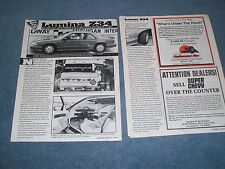 1991 Chevy Lumina Z34 Vintage New Car Info Article Z/34