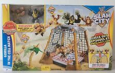 NEW WWE SLAM CITY GIRILLA IN THE CELL MATCH RANDY ORTON & GORILLA FIGURES