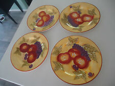 4 maxwell & williams tuscan fruit bread & butter or salad plates
