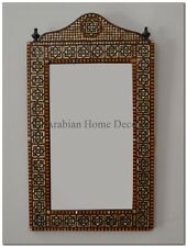 Handcrafted Moroccan Egyptian Mother of Pearl Wood Wall Mirror Frame