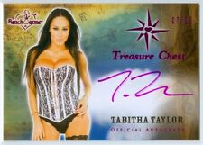 "TABITHA TAYLOR ""PINK AUTOGRAPH CARD #03/25"" BENCHWARMER TREASURE CHEST 2014"