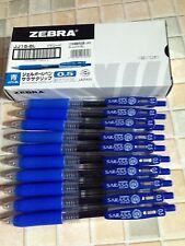 Zebra Retractable Gel Pens Sarasa   0.5mm blue ink A box of 10 pcs