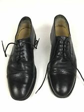 Brooks Brothers 346 Black Cap Toe Leather Dress Shoes Mens 10.5D Very Nice