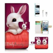 iPod Touch 6 iTouch 6 Flip Wallet Case Cover! P1247 Bunny