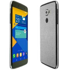 Skinomi Brushed Aluminum Skin+Clear Screen Protector for Alcatel IDOL 4s