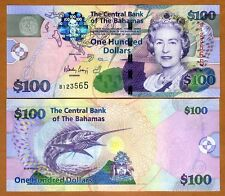 Bahamas, 100 dollars, 2009, Pick 76, QEII, UNC   Colorful