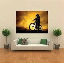 MOUNTAIN BIKE SILHOUETTE SPORT NEW GIANT POSTER WALL ART PRINT PICTURE G160