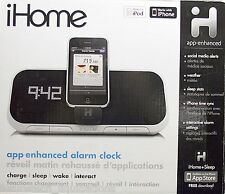 IHOME iA5 APP ENHANCED ALARM CLOCK FOR iPOD / iPHONE - iA5BVC