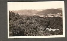 RPPC photo post card view from Polish Mountain 15 miles East of Cumberland MD