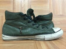 $170�� John Varvatos Converse All Star Hi Zip Forest Night Leather Sz 10 145380C