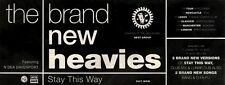 12/12/92PGN09 THE BRAND NEW HEAVIES : STAY THIS WAY ADVERT 4X11""