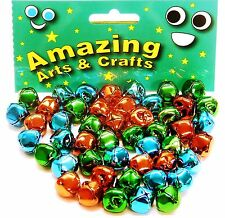 48 Jingle Bells assorted colours 15mm by Amazing Arts and Crafts
