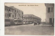 Heliopolis San Stefano Street North Africa Vintage Postcard 184a