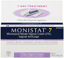 Monistat 7 Vaginal Antifungal Cream with Disposable Applicators - 1.59 oz