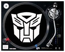 Transformers / AutoBot & Decepticon logos Black Felt - Turntable / DJ Slipmats