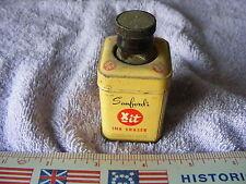 Vintage Sanfords Ink Eraser Glass Tin