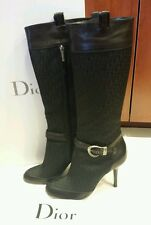 100% Authentic Christian Dior buckle botte boots retail price $995 new sz 40