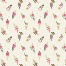 1/2 Mtr Lewis and Irene A154-1 Picnic in the Park Patchwork Ice Cream Fabric
