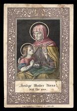 santino incisione 1800 S.ANNA dip. a mano