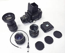 Mamiya RB67 PRO Medium Format SLR Film Camera + lenses 50/90/180/360+2magazines