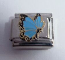 BLUE BUTTERFLY 9mm Italian Charm fits Classic Starter Bracelets March Birthstone
