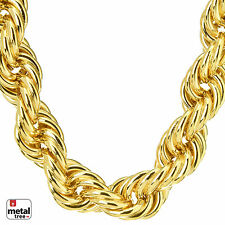 Hip Hop Men's Rapper 14K Gold Plated Hollow Chunky Rope Chain Necklace 14 mm 30""