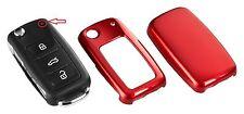 für VW Seat Skoda Schlüssel Cover Hülle Blende Rot Metallic C10
