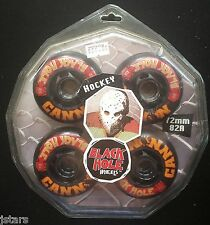 BLACK HOLE WHEELS, INLINE SKATES CANNON STREET HOCKEY SET, ROLLERBLADE, NEW NOS