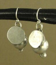 Antique fine silver tribal earrings. Rajasthan. Fine and sterling silver.