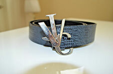100% Authentic Versace Jeans Couture Snake Print Monogram Mens Belt Size 38