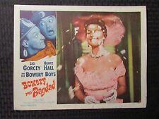 """1954 BOWERY Boys TO BAGDAD Original 14x11"""" Lobby Card VG 4.0 Leo Gorcey"""