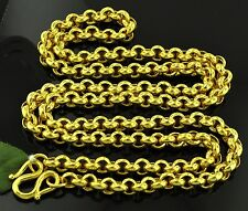 75.00 GRAMS 24K  YELLOW GOLD bullion 9999 CHAIN HANDMADE rolo NECKLACE 27 inches