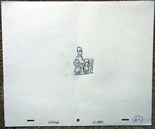 SIMPSONS Original Animation Art Cel Production Drawing Homer Marge Bart Lisa #14